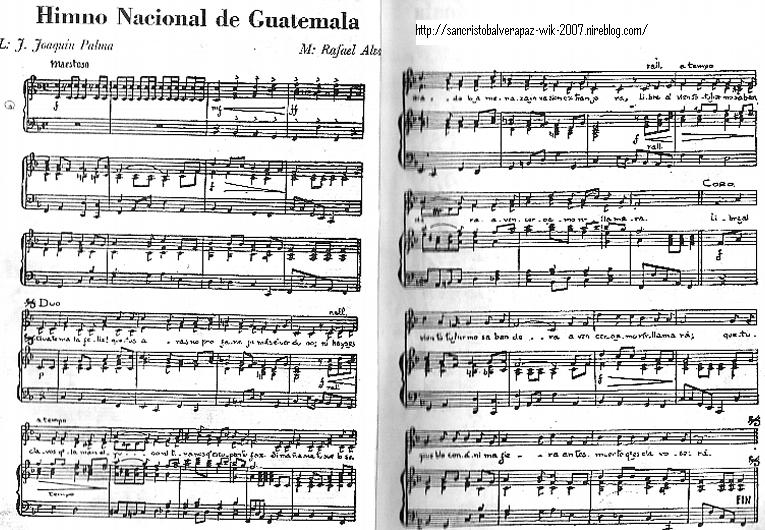 Himno Nacional de Guatemala Flauta