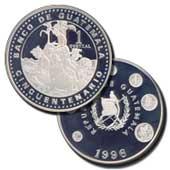Moneda conmemorativa del 50 Aniversario de Fundación del Banco de Guatemala