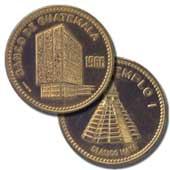 Medalla conmemorativa de la inauguración del edificio del Banco de Guatemala