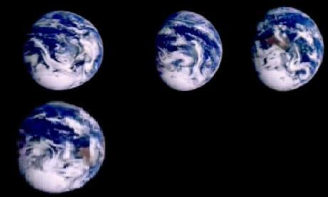 Planeta tierra tomada espacial galileo
