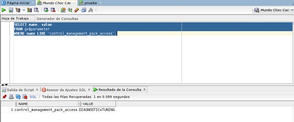 DIAGNOSTIC+TUNING select from parameter