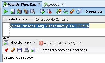 grant select any dictionary to user