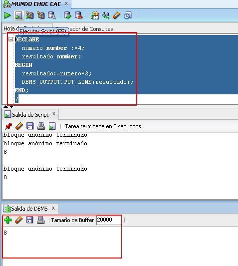 SQL Devoloper DBMS_OUTPUT DBMS