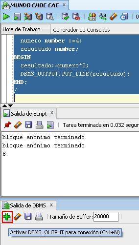 SQL Devoloper DBMS_OUTPUT