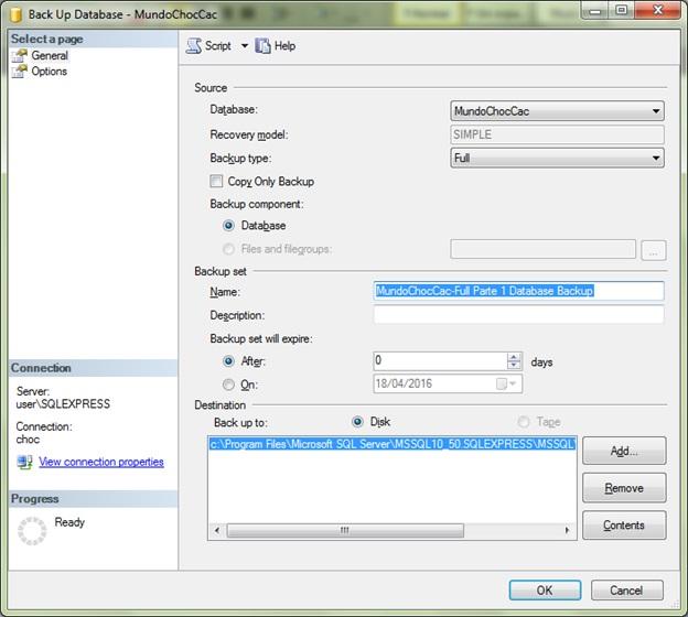 SQLServer-Back up sets file database