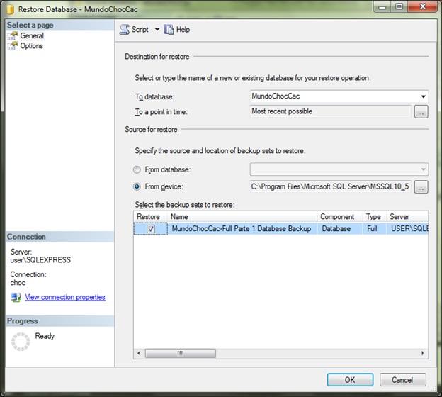 SQLServer-Restore Database sets to restore ok